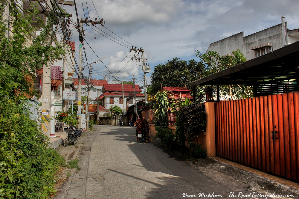 Backstreet in Chiang Mai, Thailand