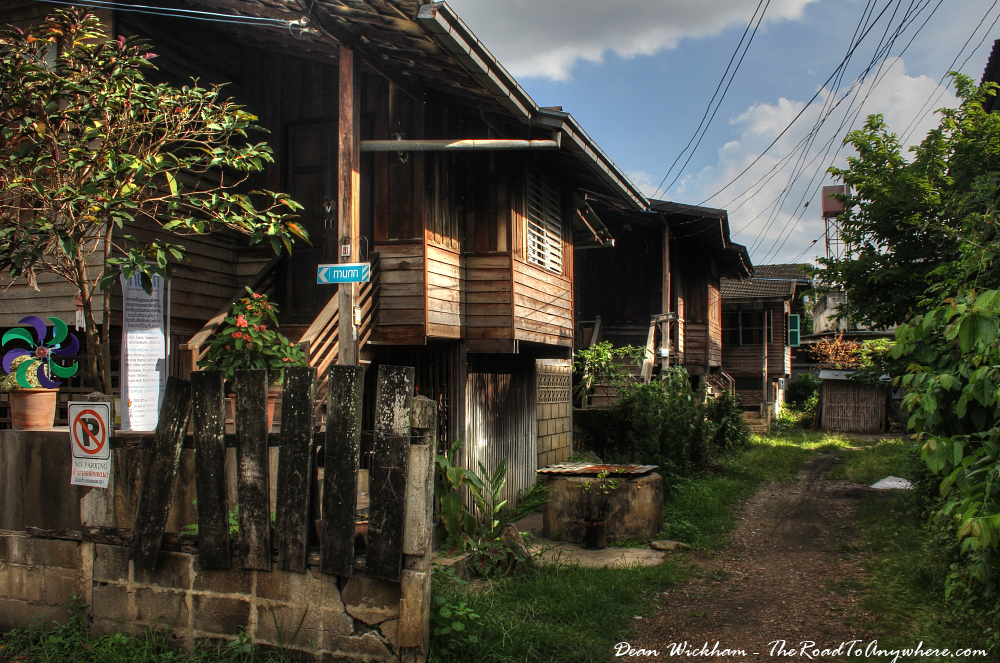 Old Wooden house in Chiang Mai, Thailand