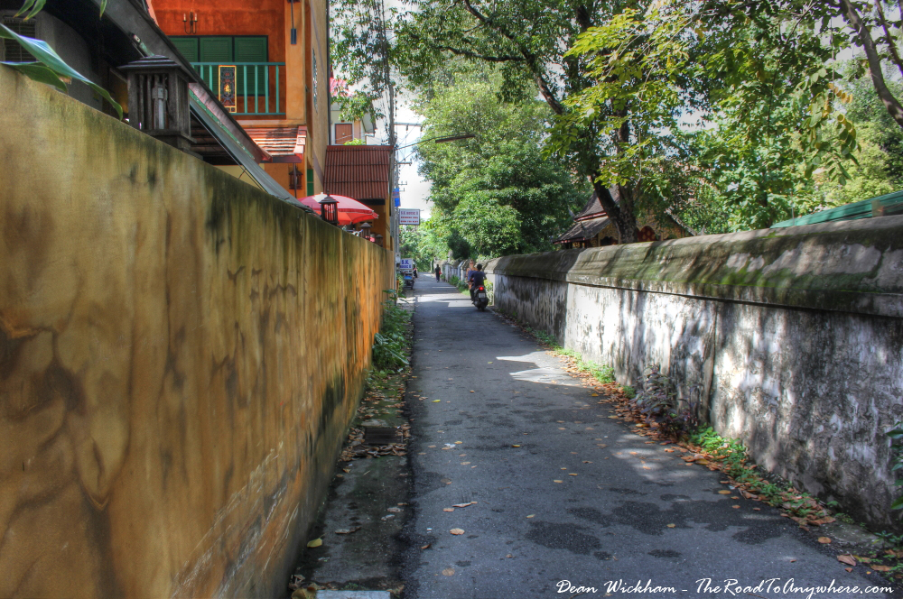 Quiet alleyway in Chiang Mai, Thailand