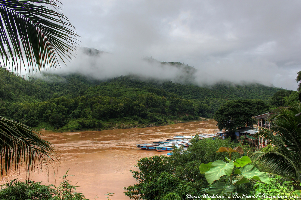 View of the Mekong River in Pakbeng, Laos