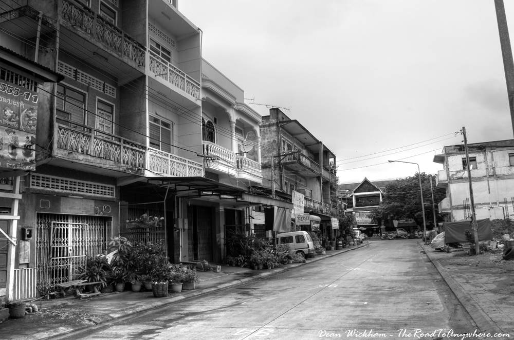 Quiet street in Pakse, Laos