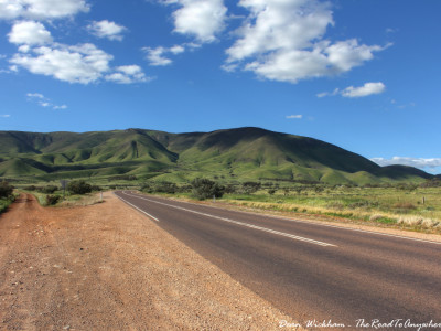 The road to the South Flinders Ranges in South Australia