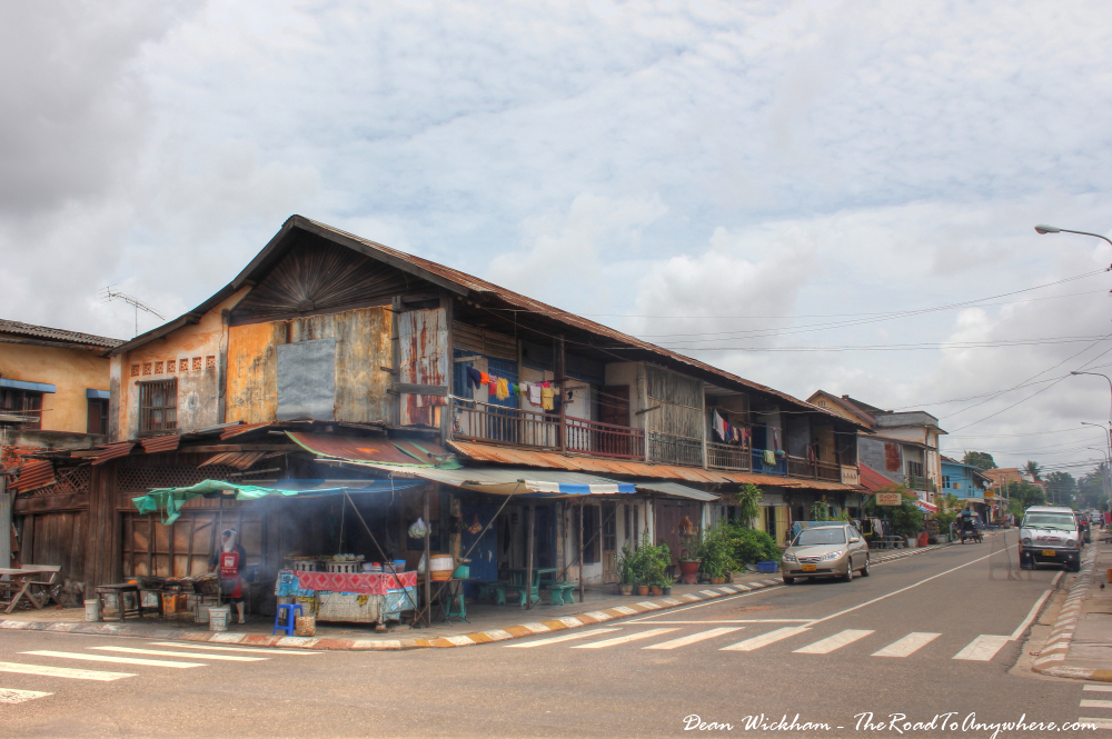 Old buildings in Savannakhet, Laos