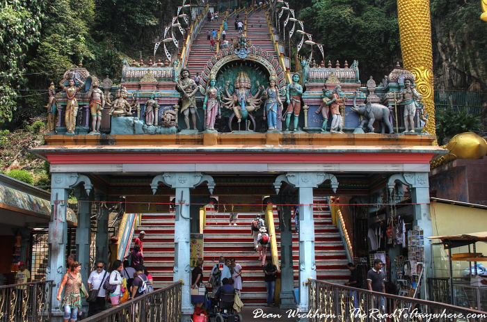 Entrance gate to the stairs at Batu Caves in Kuala Lumpur, Malaysia