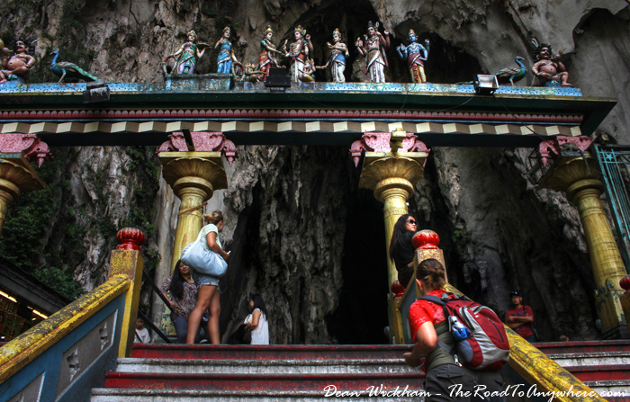 Gate at the top of the stairs at Batu Caves in Kuala Lumpur, Malaysia