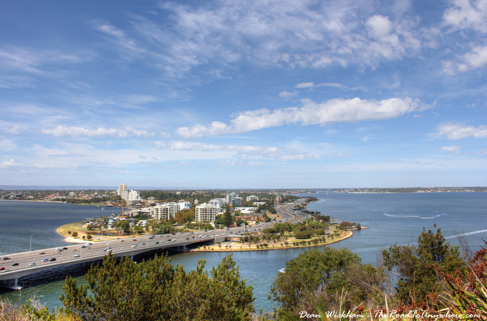 View to South Perin in Kings Park in Perth, Western Australiath
