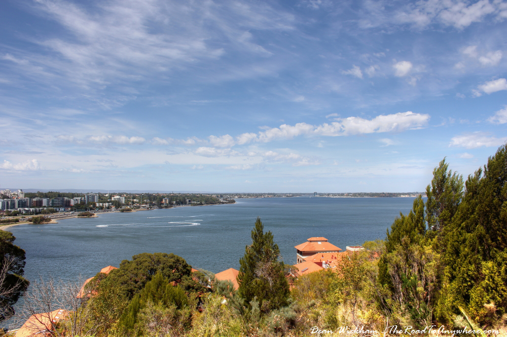 View of the Swan River in Kings Park in Perth, Western Australia