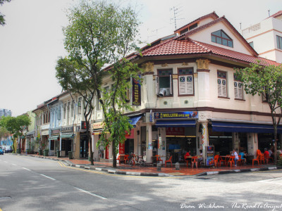A traditional corner coffee shop in Singapore