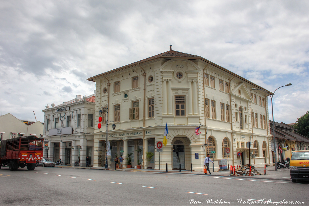 Colonial buildings in George Town, Penang, Malaysia