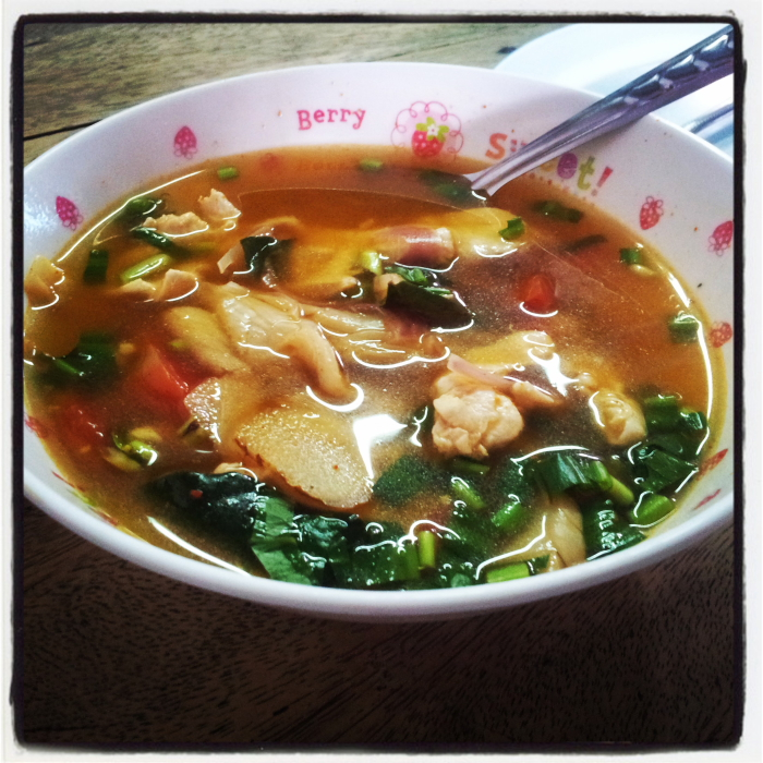 Tom Yum Soup in Chiang Mai, Thailand