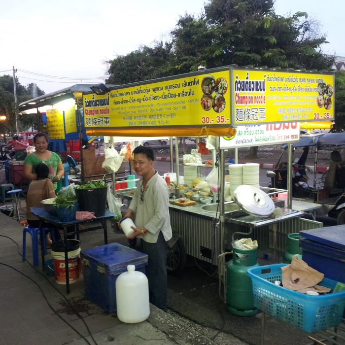 Street food stall in Chiang Mai, Thailand