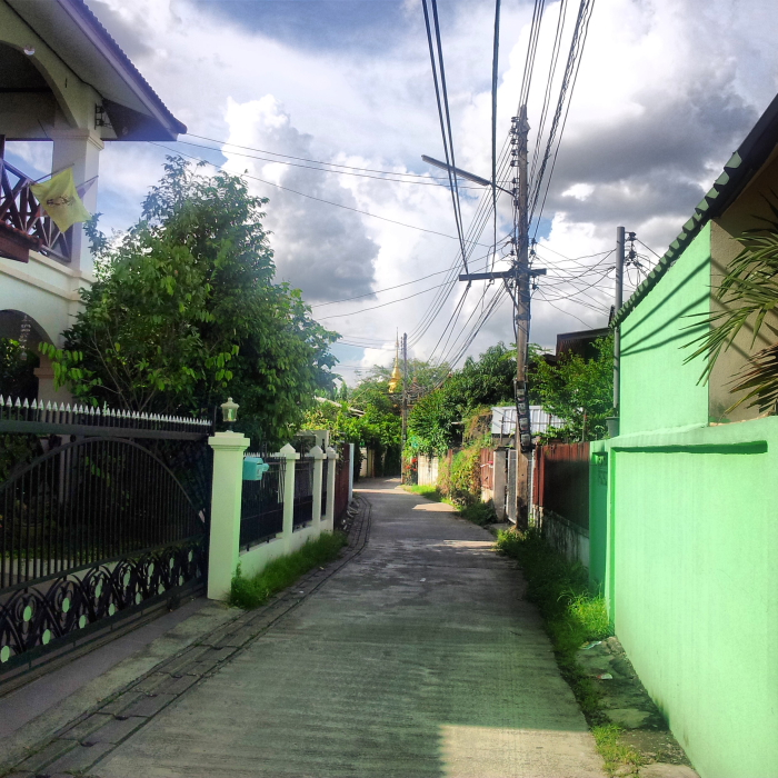 An alleyway in Chiang Mai, Thailand