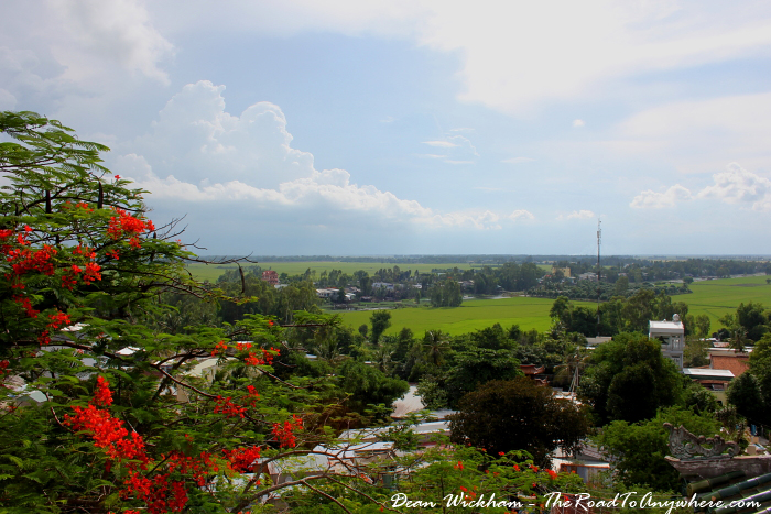 View from Phuoc Dien Tu Pagoda in the Mekong Delta, Vietnam