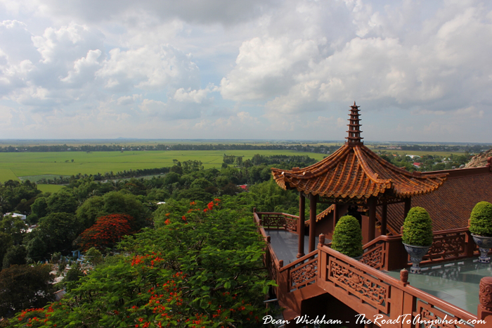A view from Phuoc Dien Tu Pagoda in the Mekong Delta, Vietnam