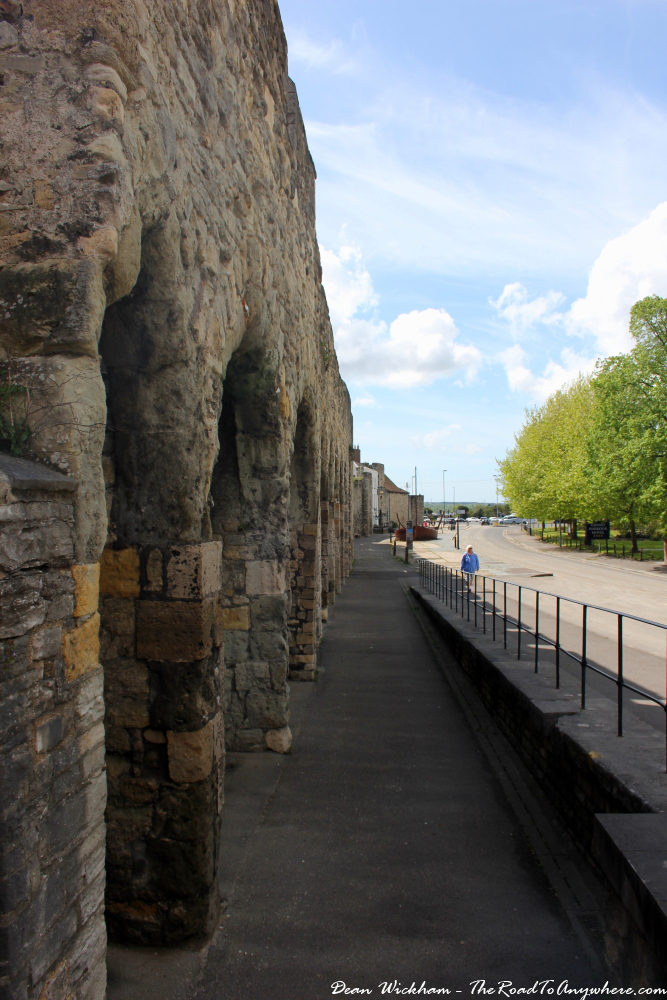 Medieval city walls in Southampton, England