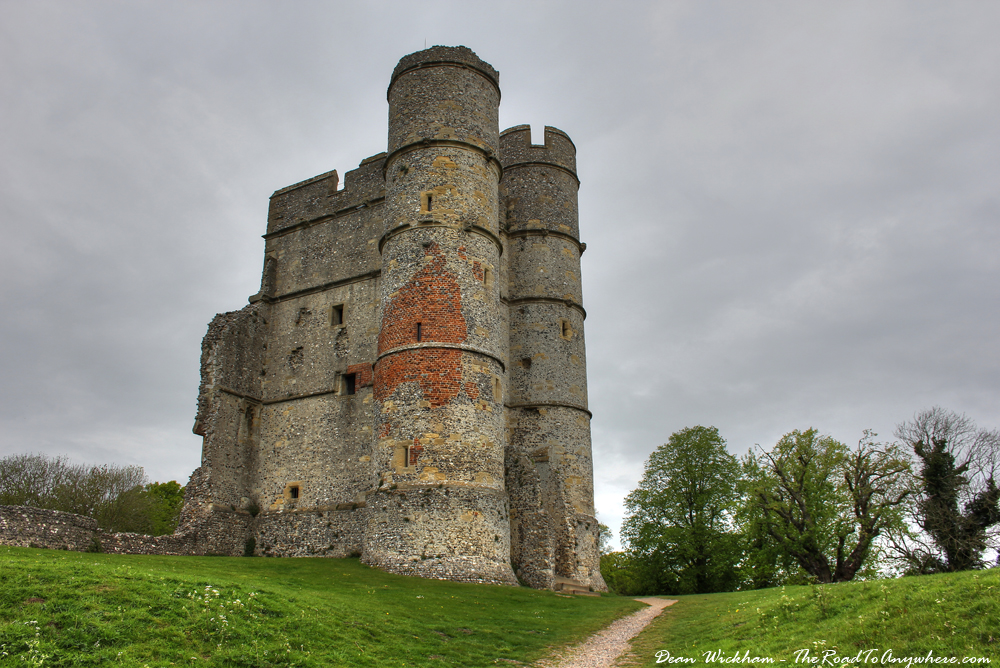 The twin towered Gatehouse at Donnington Castle, Berkshire, England