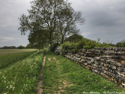 Ancient Roman Walls in Silchester, England