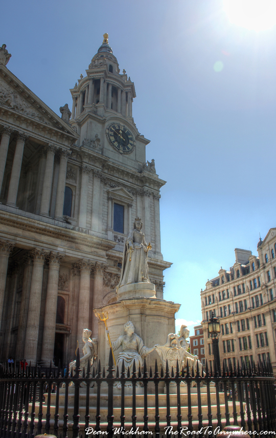 Climbing to the top of St Paul's Cathedral in London