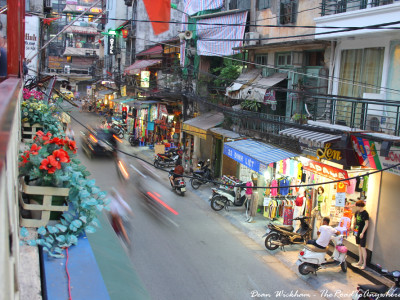 Street view in the Old Quarter of Hanoi, Vietnam