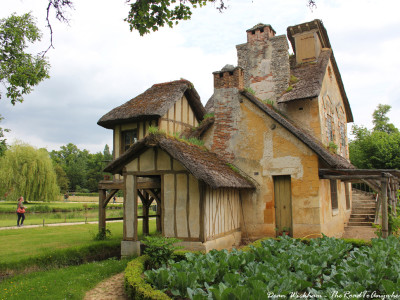 Old farmhouse at Marie Antoinette's Estate in Versailles, France