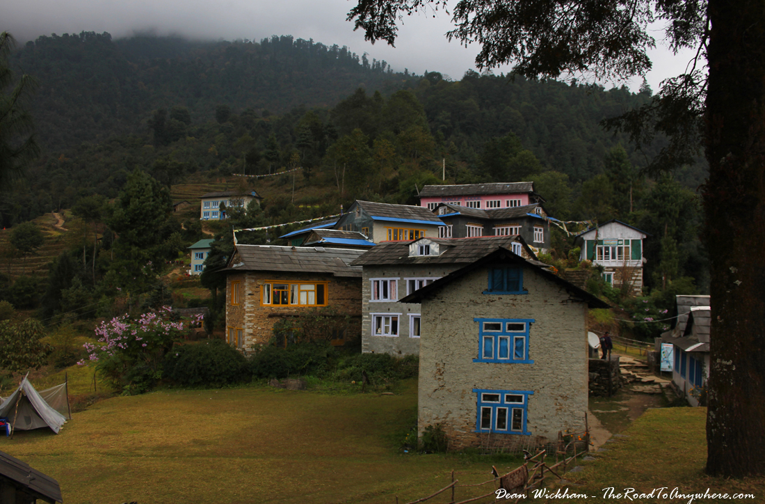 The village of Bupsa in Nepal