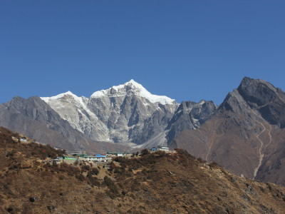 View of the village of Mong La in Nepal