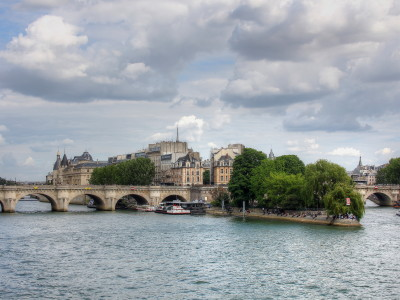 View of the Seine in Paris, France