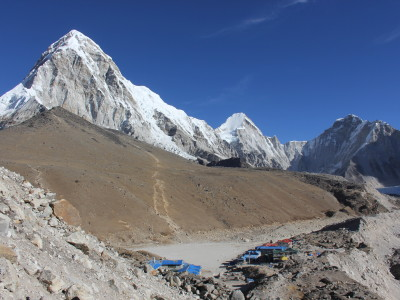 Approaching Gorak Shep in Nepal