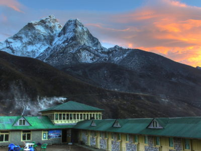 Ama Dablan sunset in Dingboche, Nepal