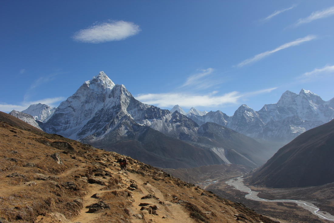 Periche Valley view to Ama Dablam in Nepal