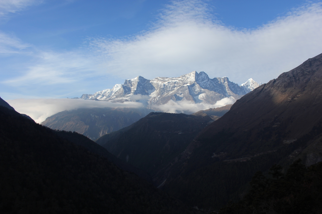 View to Kungde Ri from Tengboche in Nepal