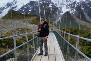 Hiking Hooker Valley New Zealand