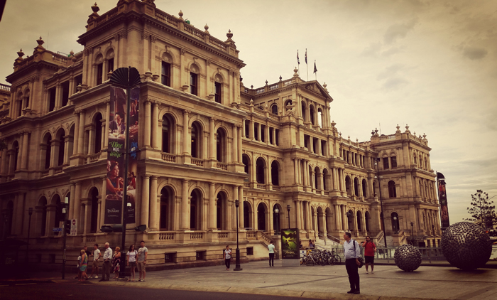 Treasury Building in Brisbane, Australia