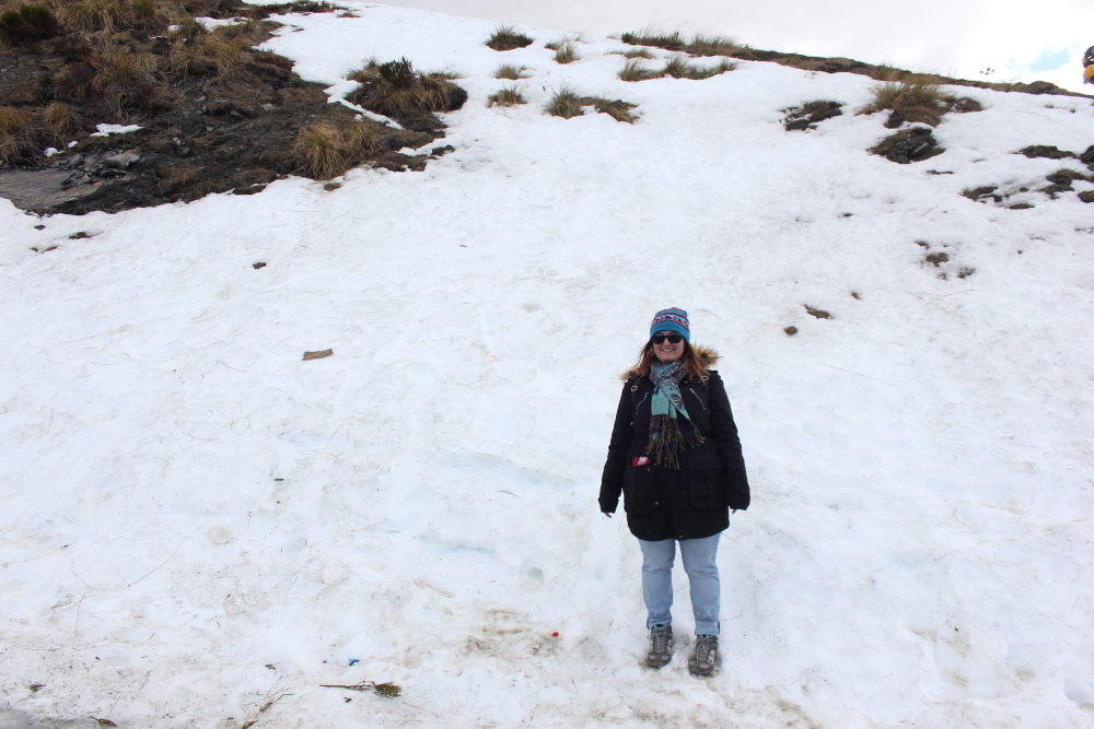 Playing in the snow on Coronet Peak New Zealand