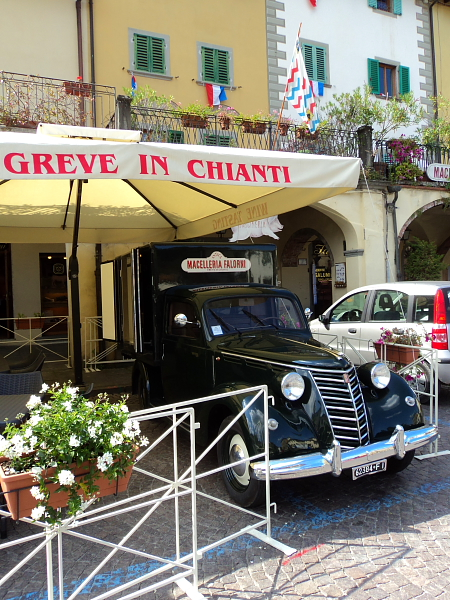 An old classic truck in Greve in Chianti, Italy