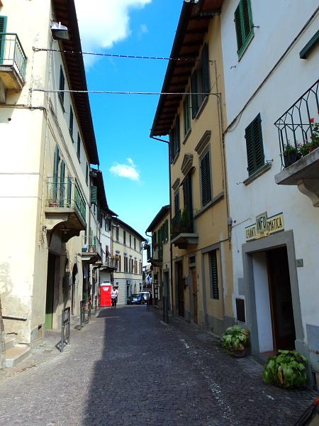 a street in Greve in Chianti, Italy